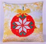 Needleart World Red Bauble Pillow Diamond Dotz Craft Kit Christmas Craft Kit