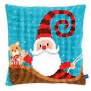 Happy Santa Cushion - Vervaco Cross Stitch Kit