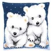 Polar Bears Cushion - Vervaco Cross Stitch Kit