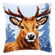 Deer Cushion - Vervaco Cross Stitch Kit