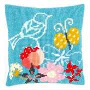 Bird and Butterfly Cushion - Vervaco Cross Stitch Kit