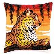 Leopard Cushion - Vervaco Cross Stitch Kit