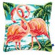 Flamingos Cushion - Vervaco Cross Stitch Kit