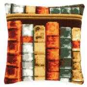 Books Cushion - Vervaco Cross Stitch Kit