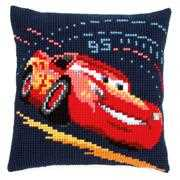 Lightning McQueen Cushion - Vervaco Cross Stitch Kit