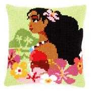 Vervaco Island Girl Cushion Cross Stitch Kit