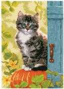 Vervaco Cat and Pumpkin Cross Stitch Kit