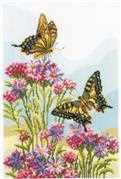 Vervaco Swallowtails Cross Stitch Kit