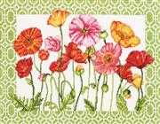 Poppy Pattern - Dimensions Cross Stitch Kit
