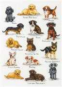 Dimensions Dog Sampler Cross Stitch Kit
