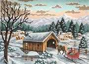 Winter Sleigh - Grafitec Tapestry Canvas