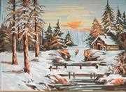 Winter Sunset - Grafitec Tapestry Canvas