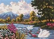 River Landscape - Grafitec Tapestry Canvas