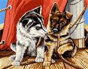Grafitec Les Chiots Tapestry Canvas