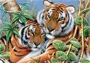 Tender Tigers - Grafitec Tapestry Canvas