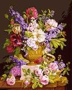 Bouquet Ancien - Grafitec Tapestry Canvas