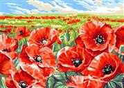 Red Poppy Field - Grafitec Tapestry Canvas