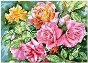 Radiant Roses - Grafitec Tapestry Canvas