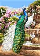 Peacock Paradise - Grafitec Tapestry Canvas