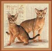 Abyssinian Cats - RIOLIS Cross Stitch Kit