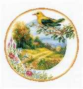 RIOLIS Plate with Oriole Cross Stitch Kit