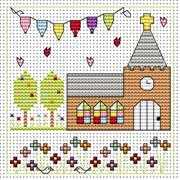 Church Celebration Card - Fat Cat Cross Stitch Kit