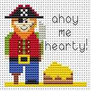 Sew Simple Pirate - Fat Cat Cross Stitch Kit