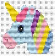Sew Simple Unicorn - Fat Cat Cross Stitch Kit