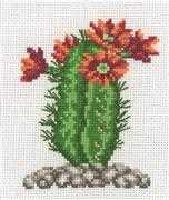 Cactus with Orange Flower - Permin Cross Stitch Kit