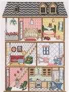 Three Storey Dollhouse - Permin Cross Stitch Kit