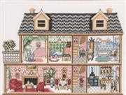 Two Storey Dollhouse - Permin Cross Stitch Kit