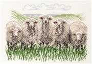 Sheep - Linen - Permin Cross Stitch Kit