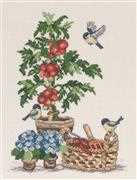 Tomatoes - Linen - Permin Cross Stitch Kit