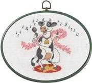 Singing Cow - Permin Cross Stitch Kit