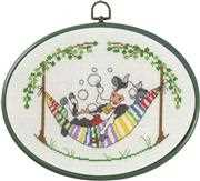 Cow in Hammock - Permin Cross Stitch Kit