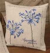 Agapanthus Cushion - Permin Cross Stitch Kit