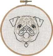 Permin Geo-Pug Embroidery Kit