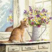 Dimensions Kitten in Window Cross Stitch