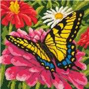 Butterfly and Zinnias - Dimensions Tapestry Kit