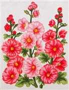 Hollyhocks - Grafitec Tapestry Canvas