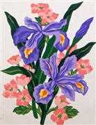 Blue Irises - Grafitec Tapestry Canvas