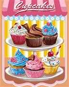 Grafitec Cupcakes Tapestry Canvas