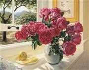 Roses by the Window - Grafitec Tapestry Canvas