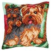 Dogs on Armchair - Collection D'Art Cross Stitch Kit