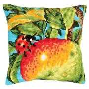 Collection D'Art Ladybug on Apple Cross Stitch Kit