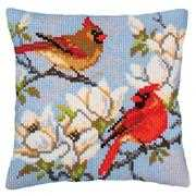 On a Branch of Magnolia - Collection D'Art Cross Stitch Kit