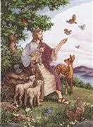 Jesus with Animals - Janlynn Cross Stitch Kit
