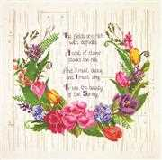 Janlynn Spring Sentiments Cross Stitch Kit