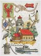 Seaside Collage - Janlynn Cross Stitch Kit