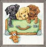 Suitcase of Labs - Design Works Crafts Cross Stitch Kit